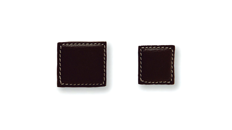 Furniture handles Pomo de cuero cuadrado PO2078, PO2079